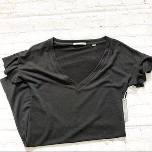 Tart Black Vneck Tshirt Dress